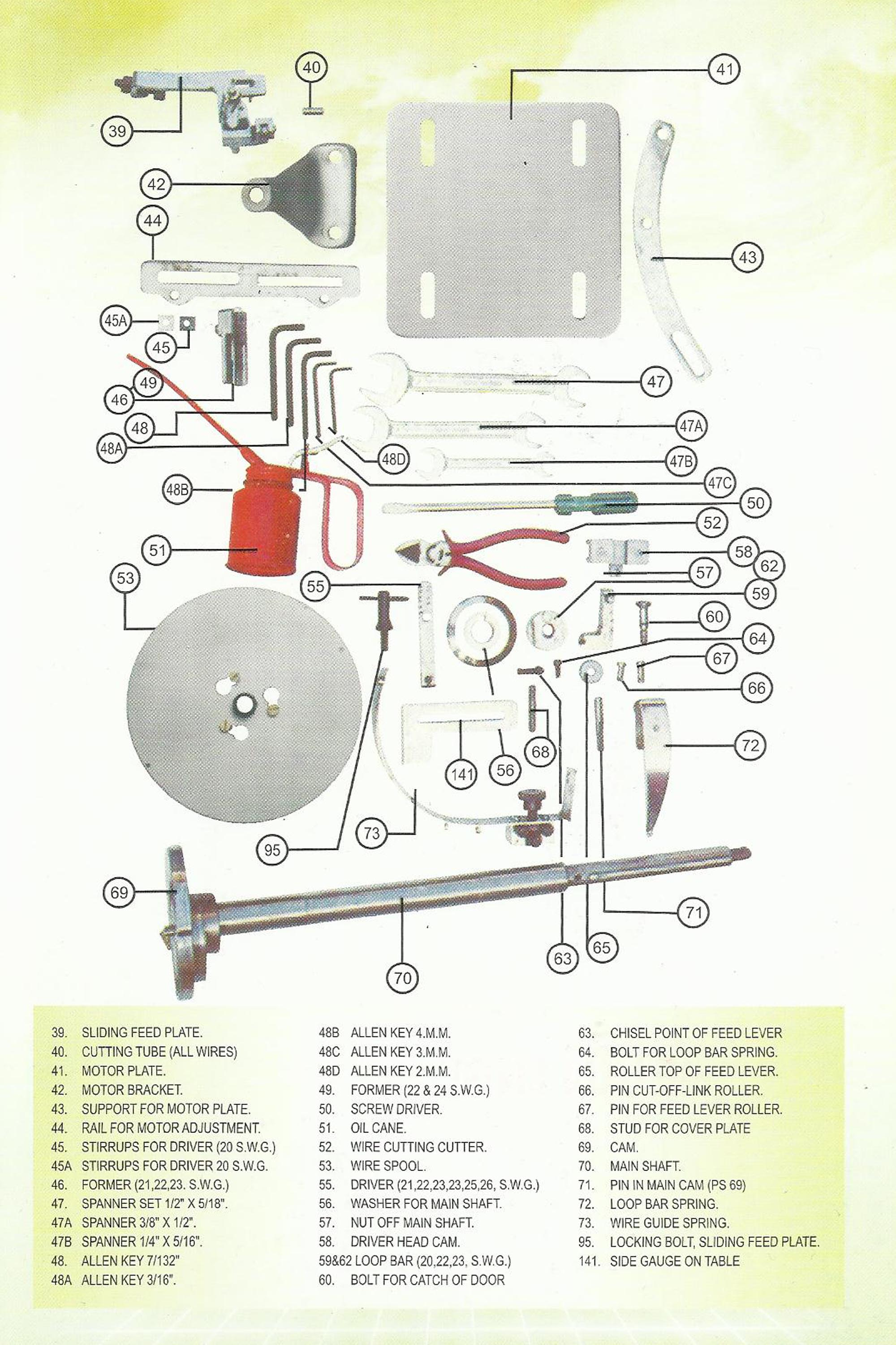 5 816mm Wire Book Stitching Machine Parts Chetan Engineering Works Auto Diagram 3
